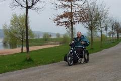 Bernhard mit dem Handbike